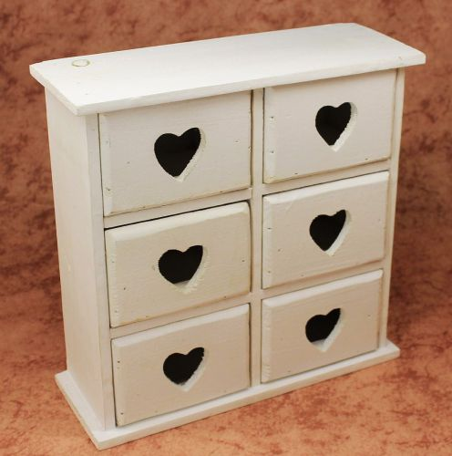 minikommode kommode mit 6 schubladen 12235 regal 28cm schmuckkasten shabby regal dandibo. Black Bedroom Furniture Sets. Home Design Ideas