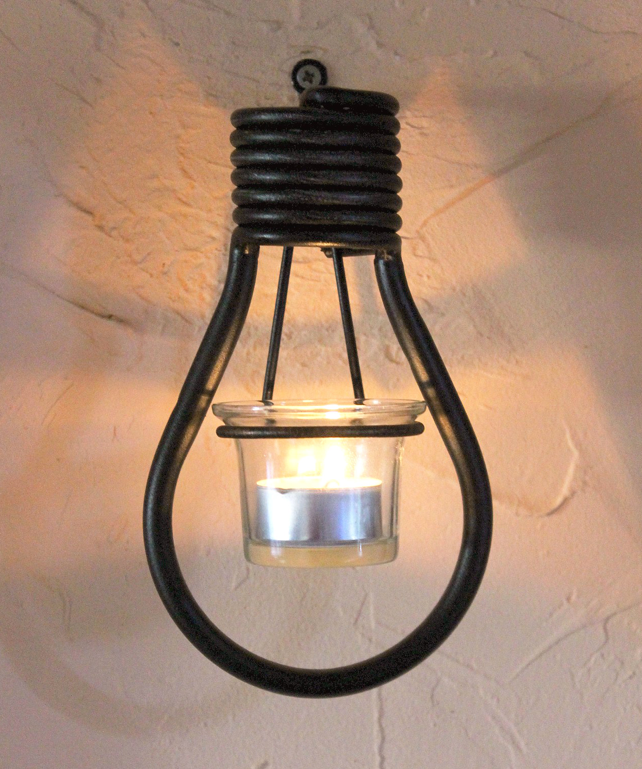 Wall Hung Tea Light Holders : Wall mounted tea light holder Bulbs 19 cm Tealight holder From Metal Wall light eBay