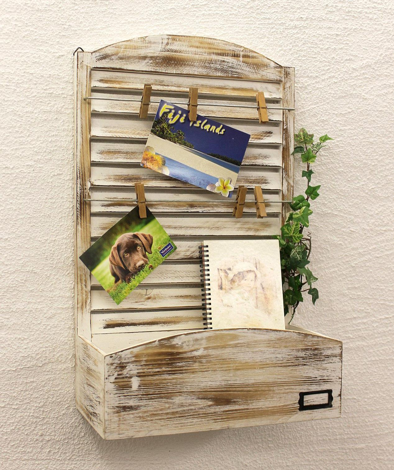 memo board with letter tray yx 14b415 pin 65 cm wall shelf shabby. Black Bedroom Furniture Sets. Home Design Ideas