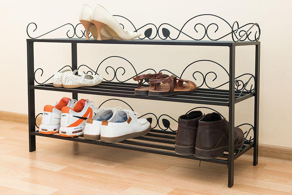 shoe shelf mi 3 shelf rack 92 cm shoe cabinet 21235 shoe rack metal wrought iron ebay. Black Bedroom Furniture Sets. Home Design Ideas