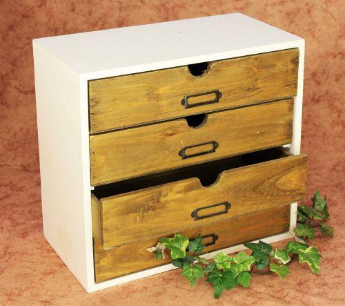 minikommode kommode mit 4 schubladen 12017 regal 32cm schmuckkasten shabby truhe dandibo. Black Bedroom Furniture Sets. Home Design Ideas