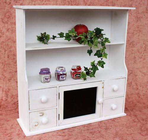 Küchenschrank 12238 Regal mit Notiztafel 55cm Schrank Shabby ... | {Küchenregal 57}
