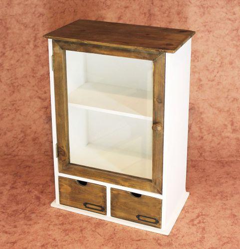 schrank minivitrine 12024 k chenschrank regal 50cm shabby k chenregal vitrine dandibo. Black Bedroom Furniture Sets. Home Design Ideas
