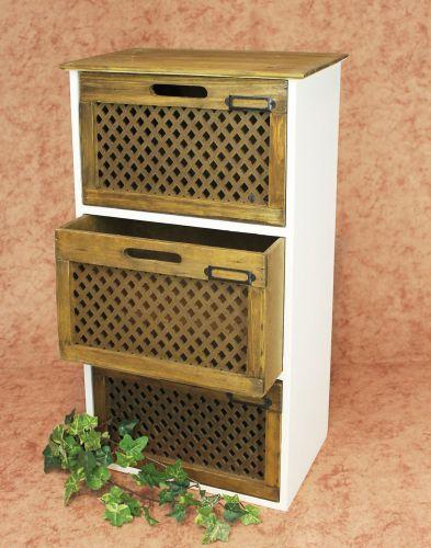 minikommode kommode mit 3 schubladen 12022 regal 57cm schrank shabby truhe dandibo. Black Bedroom Furniture Sets. Home Design Ideas