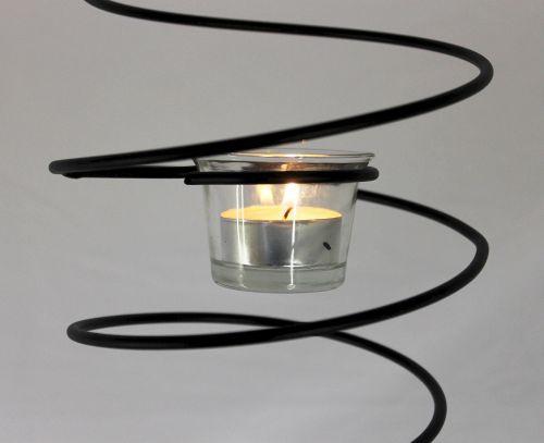 Kronleuchter Teelicht ~ Teelichthalter espiral hängend h 50cm d 15cm windlicht teelicht