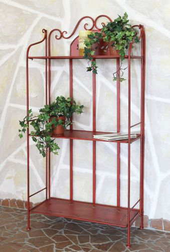 regal passion aus metall 123cm rot 18142 b cherregal badregal k chenregal dandibo. Black Bedroom Furniture Sets. Home Design Ideas