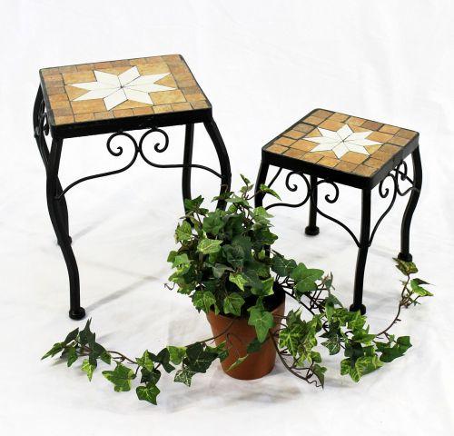 Blumenhocker Merano Mosaik 2er Set 12015 Blumenstander 20 Und 27cm