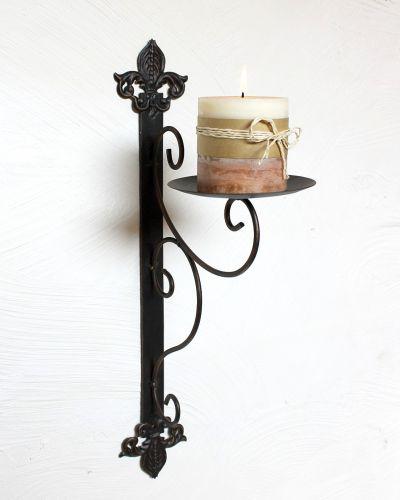 wandkerzenhalter 12111 kerzenhalter aus metall wandleuchter 47cm kerzenleuchter dandibo. Black Bedroom Furniture Sets. Home Design Ideas