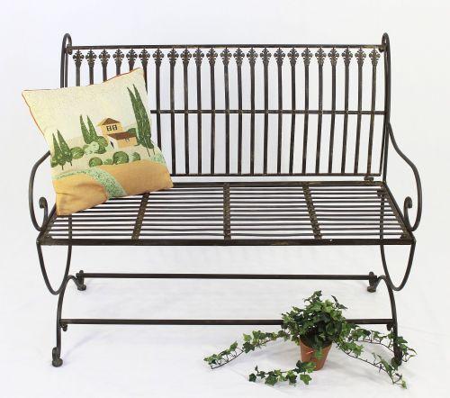 Awe Inspiring Bench Finca 063 2 Seater Made From Metal Garden Bench Seat Tree Bench 102Cm Brown Beatyapartments Chair Design Images Beatyapartmentscom