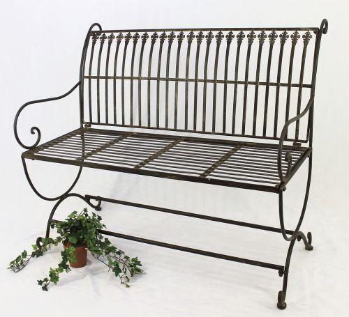 Terrific Bench Finca 063 2 Seater Made From Metal Garden Bench Seat Tree Bench 102Cm Brown Creativecarmelina Interior Chair Design Creativecarmelinacom