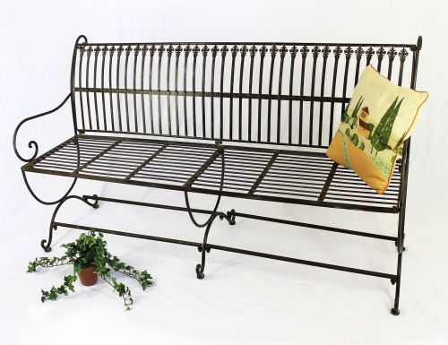 Wondrous Bench Finca 063 Jo 3 Seater Made From Metal Garden Bench Seat Tree Bench 153Cm Brown Ocoug Best Dining Table And Chair Ideas Images Ocougorg