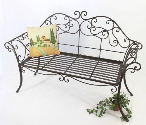 gartenbank 111183 2 braun bank 146cm aus schmiedeeisen. Black Bedroom Furniture Sets. Home Design Ideas