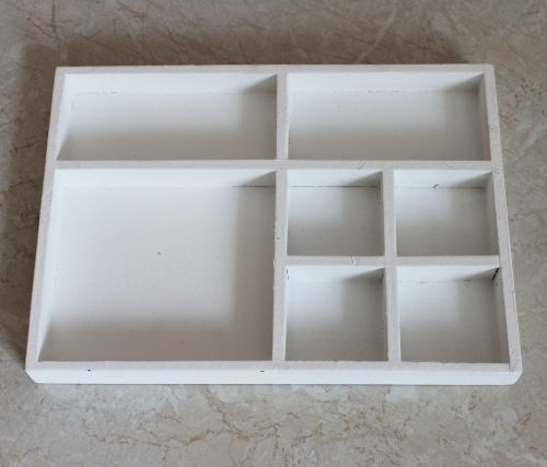 sortierkasten setzkasten 12291 wei 32cm aus holz sammlervitrine sortierschublade dandibo. Black Bedroom Furniture Sets. Home Design Ideas
