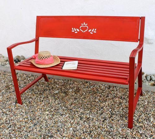 Sitzbank Für Den Garten bank gartenbank rot 121496 sitzbank 120cm metall eisen