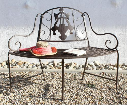 Fine Bench Jd130838 Made From Metal Garden Bench Seat Tree Bench 2 Seater 116Cm Round Bench Beatyapartments Chair Design Images Beatyapartmentscom