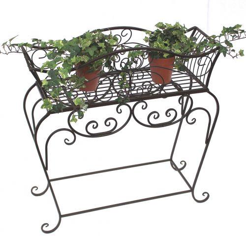 Flower stand 72 cm Flower bench 12554 S Metal Flower shelf Side table Table