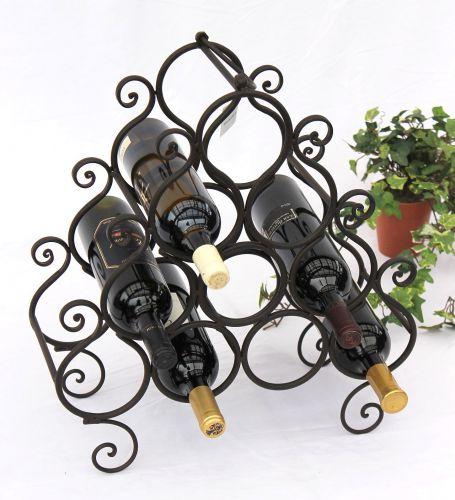weinregal jc130060 aus metall f r 10 flaschen flaschenhalter 52cm flaschenregal dandibo. Black Bedroom Furniture Sets. Home Design Ideas