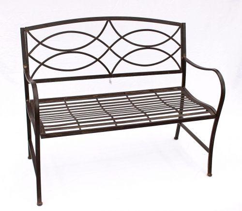 bank gartenbank 111185 aus metall sitzbank baumbank 2 sitzer 109cm parkbank dandibo. Black Bedroom Furniture Sets. Home Design Ideas