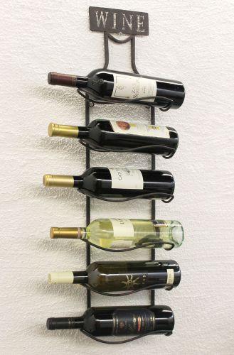 weinregal wine 83cm aus metall 95208 flaschenst nder wandregal flaschenhalter dandibo. Black Bedroom Furniture Sets. Home Design Ideas