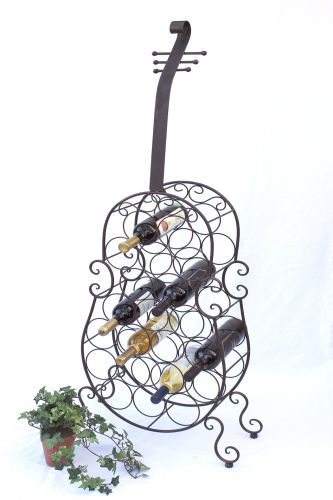 weinregal cello aus metall 100136 flaschenhalter 134cm flaschenregal wein bar dandibo. Black Bedroom Furniture Sets. Home Design Ideas