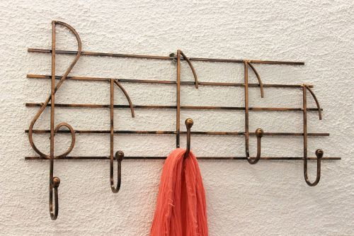 Hat Stand Melody Art309 Wal Lmounted Hat Rack 62cm Clothes Hook