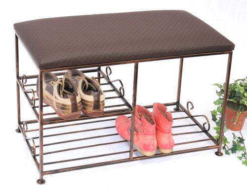 Schuhregal mit Sitzbank Art.295 Bank 70cm Schuhschrank aus Metall ...