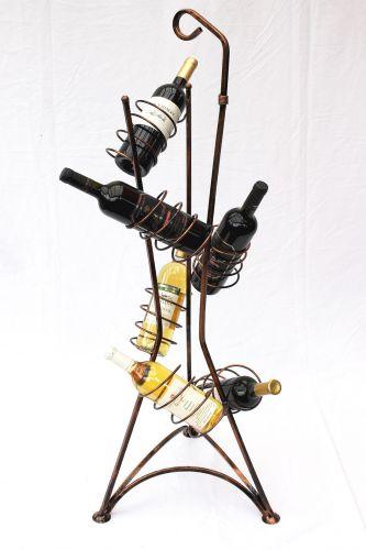 weinregal flaschenregal 112cm flaschenhalter metall weinst nder f r 1l flaschen dandibo. Black Bedroom Furniture Sets. Home Design Ideas
