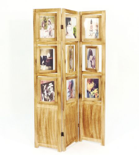 Paravent Wand paravent mit bilderrahmen 16930 raumteiler 161cm holz spanische wand