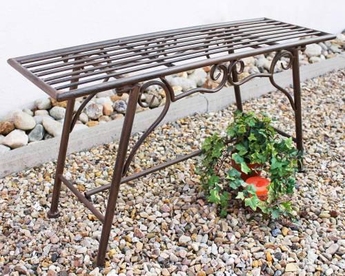 rosenbogen mit bank 120852 aus metall 250cm gartenbank spalier pergola kletterhilfe dandibo. Black Bedroom Furniture Sets. Home Design Ideas