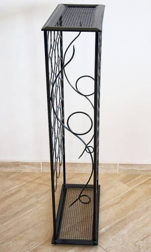 weinregal rico 100cm flaschenst nder aus metall f r 28 flasche dandibo. Black Bedroom Furniture Sets. Home Design Ideas