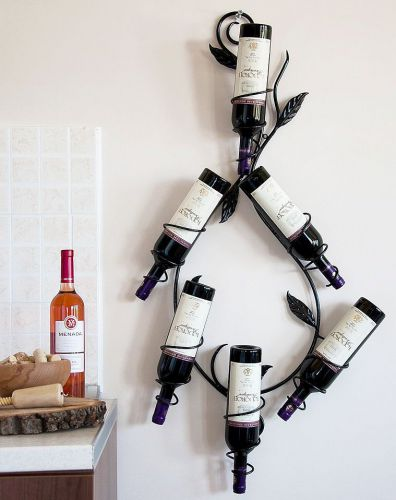 Wine Rack Natura 100cm Made Of Metal Bottle Stand Wall Mounted