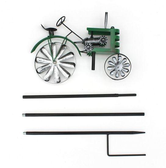 Gartenstecker Metall Traktor Trecker Grün MT85 Windspiel