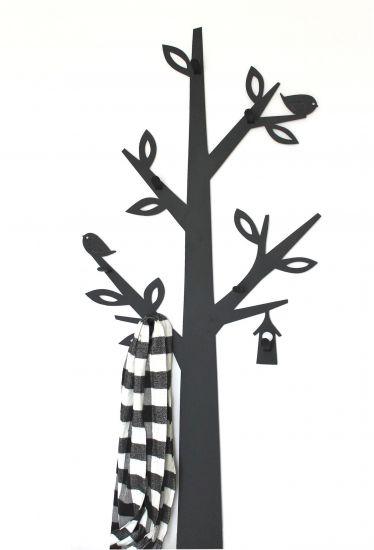 Dandibo Wandgarderobe Metall Schwarz Baum Garderobe 130 Cm 10 1500