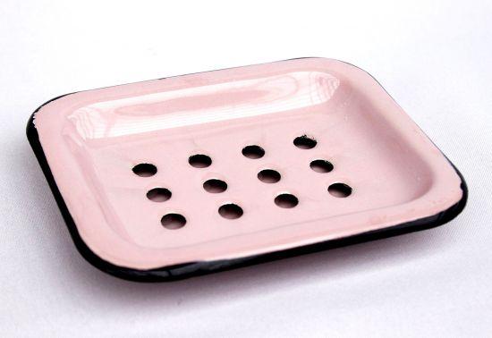 Soap dish 617A Soap holder 13cm enamelled Cottage Style Enamel Soap (ros