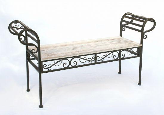 gartenbank 19279 bank 133cm aus metall und holz sitzbank. Black Bedroom Furniture Sets. Home Design Ideas