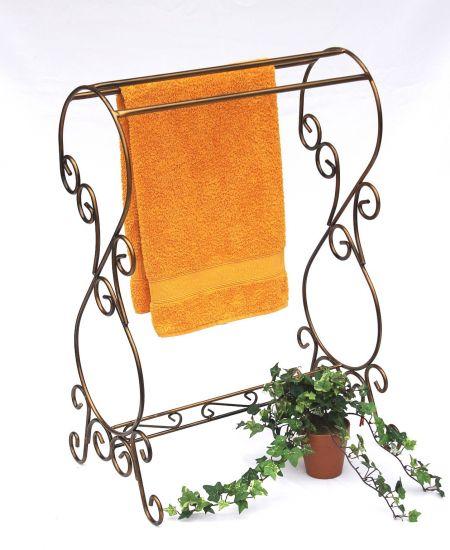 Handtuchst nder handtuchhalter im landhausstil wundersch ne baddekoration farbe bronze patina - Handtuchhalter landhausstil ...