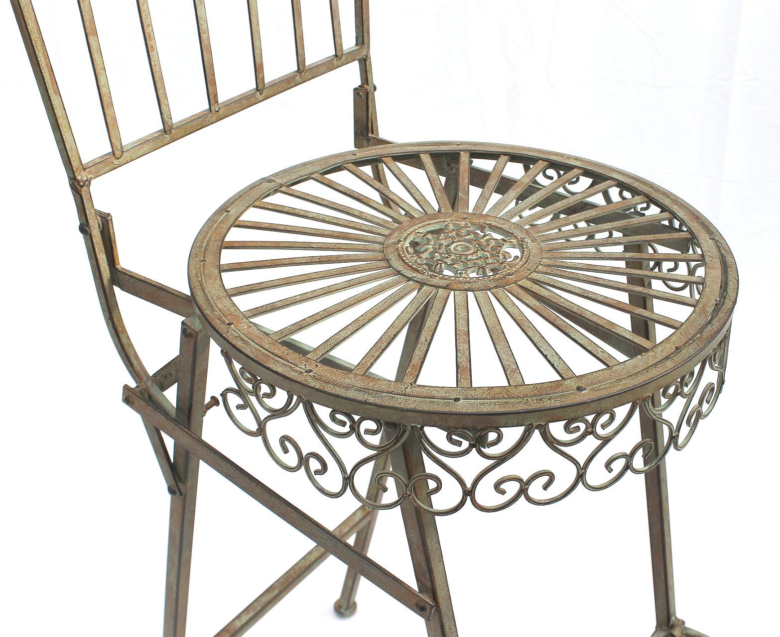 gartenstuhl klappbar metall antik