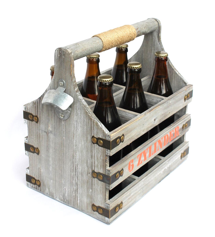bierträger mit flaschenöffner flaschenträger 6 zylinder 93540