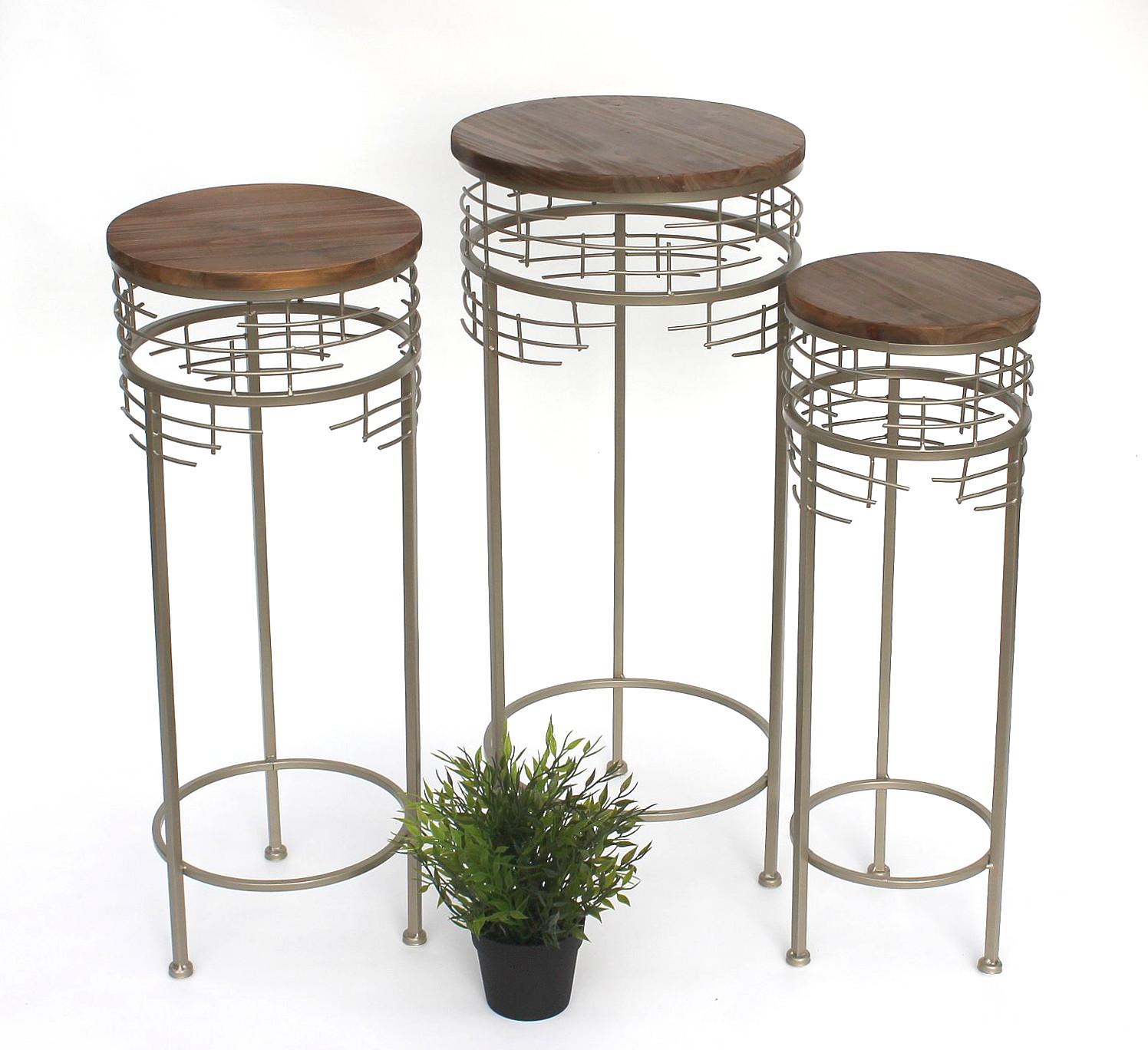 blumenhocker metall 21288 3er set blumenst nder rund. Black Bedroom Furniture Sets. Home Design Ideas