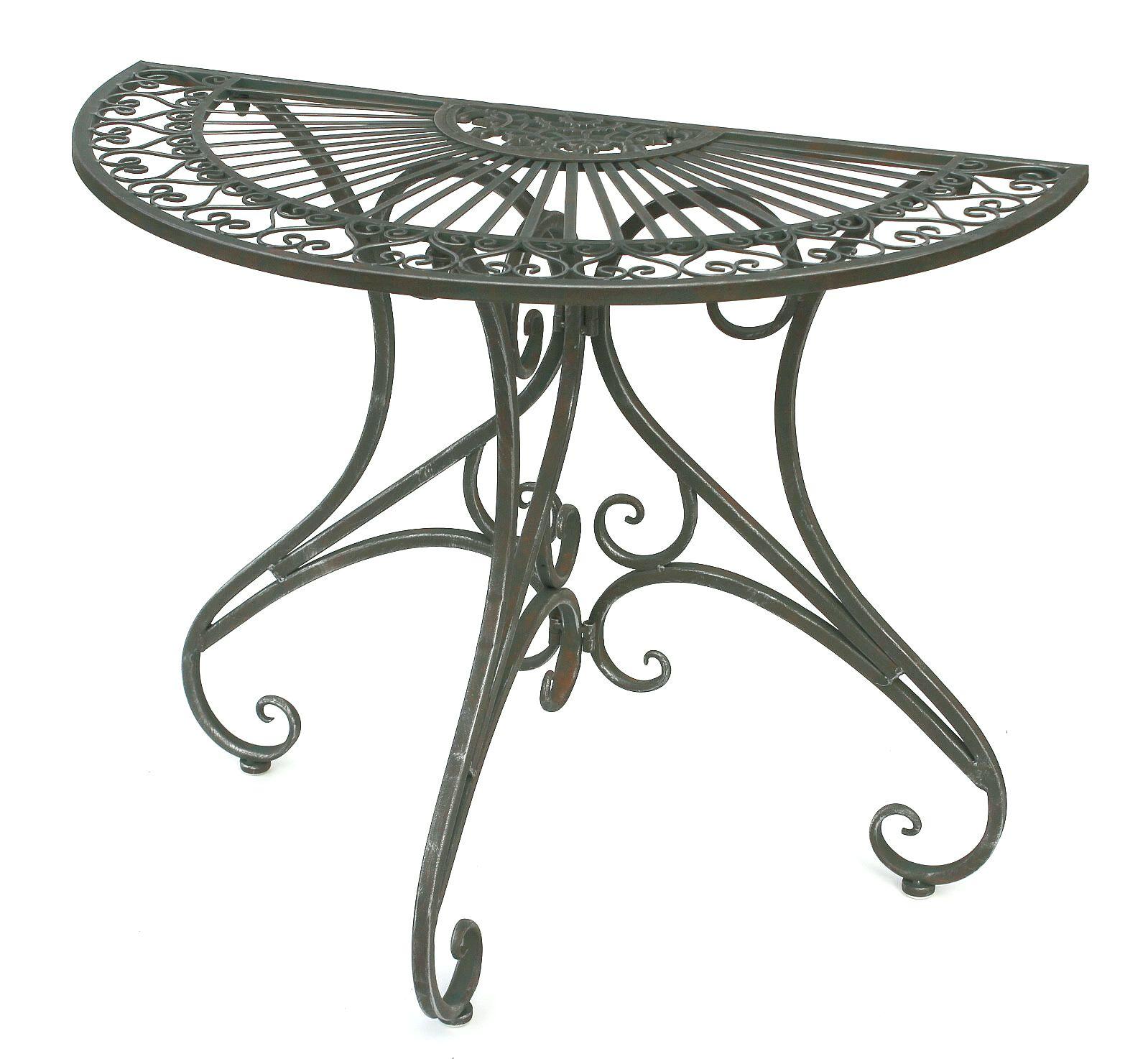 Tisch Halbrund Wandtisch Halbtisch 130434 Beistelltisch Aus Metall