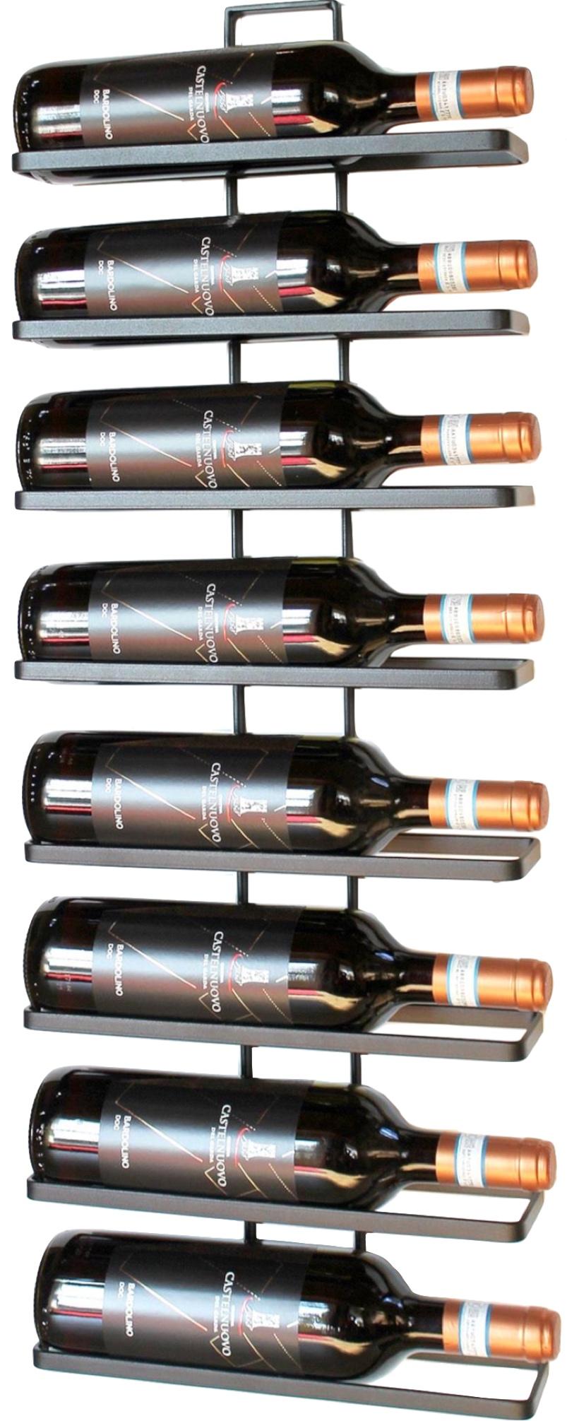 Weinregal Aus Metall In Schwarz Fur Die Wandmontage 4 Wine 2er Set Erweiterbar Flaschenstander Flaschenregal Flaschenhalter Dandibo