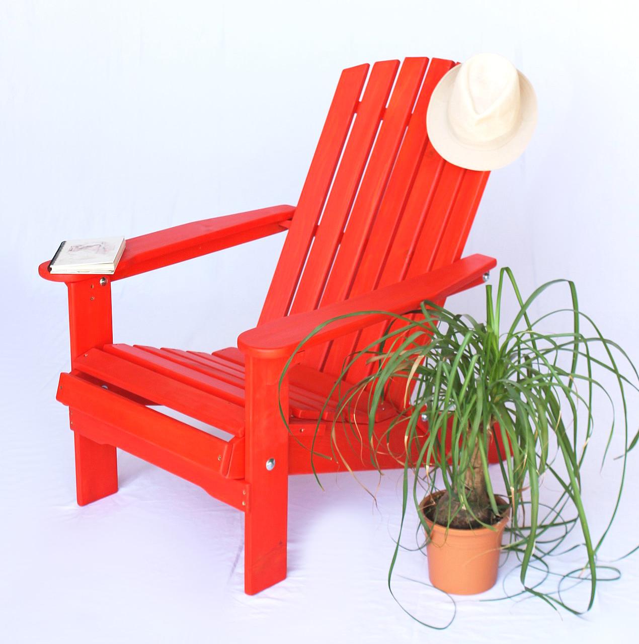Coemo Adirondack Kinderstuhl Gartenstuhl Sonnenstuhl aus Holz für Kinder
