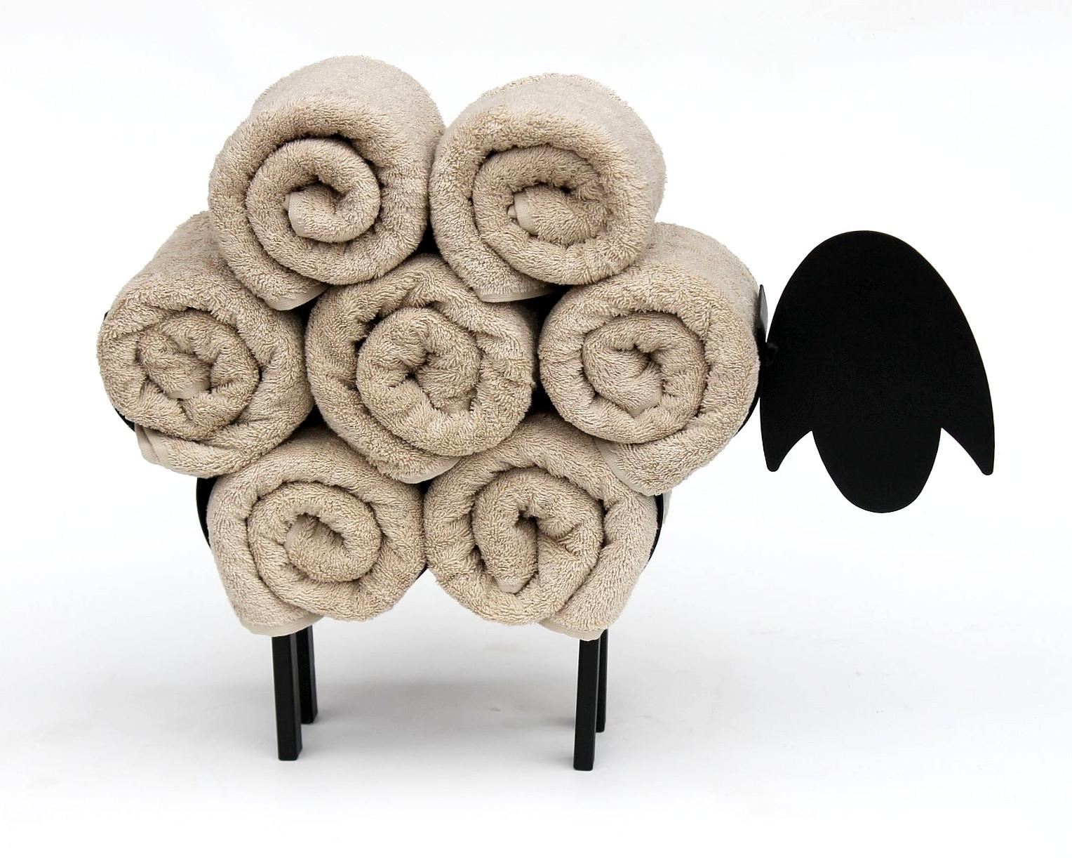 DanDiBo Handtuchhalter Stehend Schwarz Schaf Handtuchregal