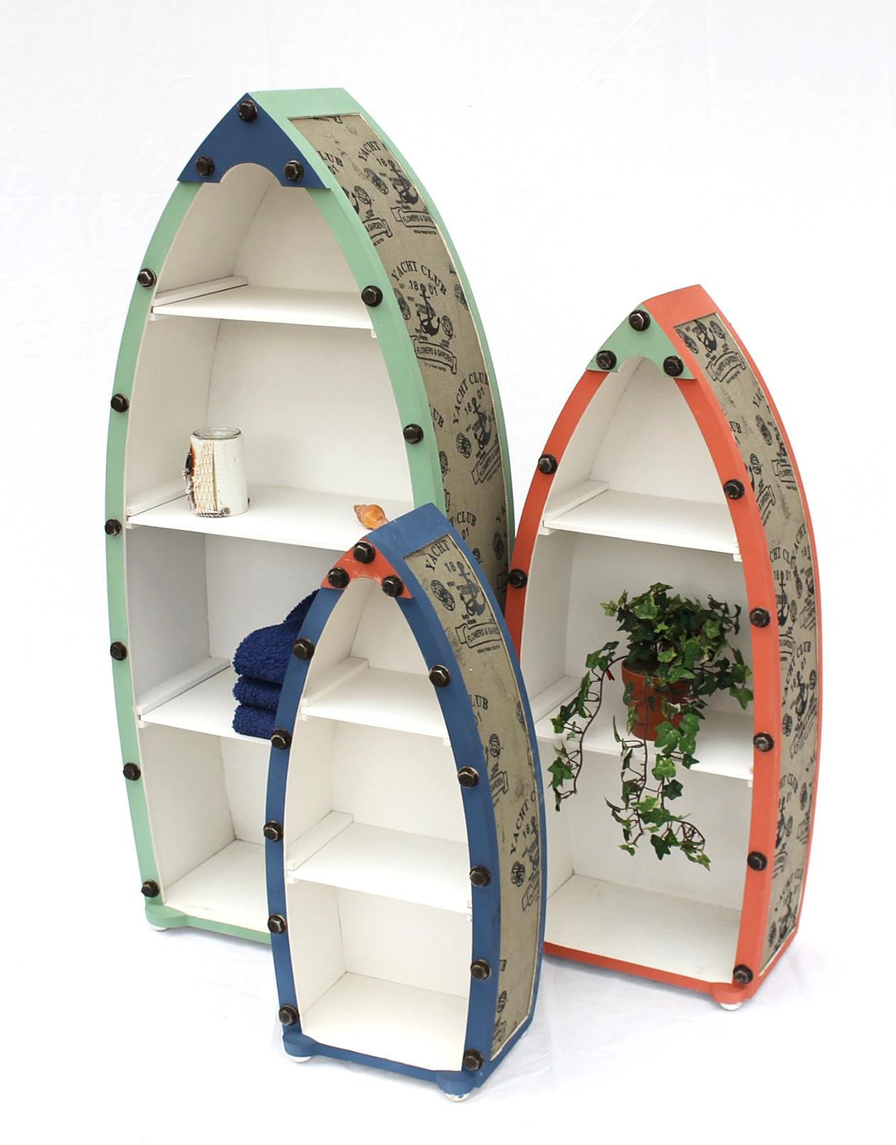 Boot - Regal - Badregal 3er Set. Aus MDF und Holz gefertigt und ...