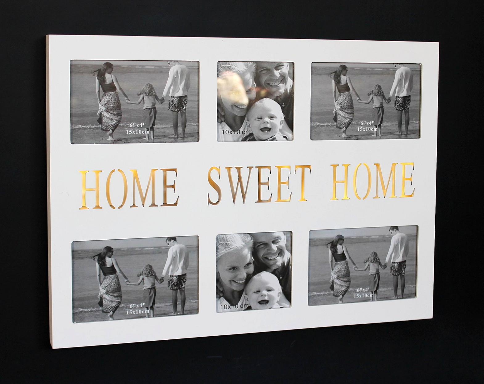 Fotorahmen Home Sweet Home - wunderschöne Zimmerdekoration. Aus MDF ...
