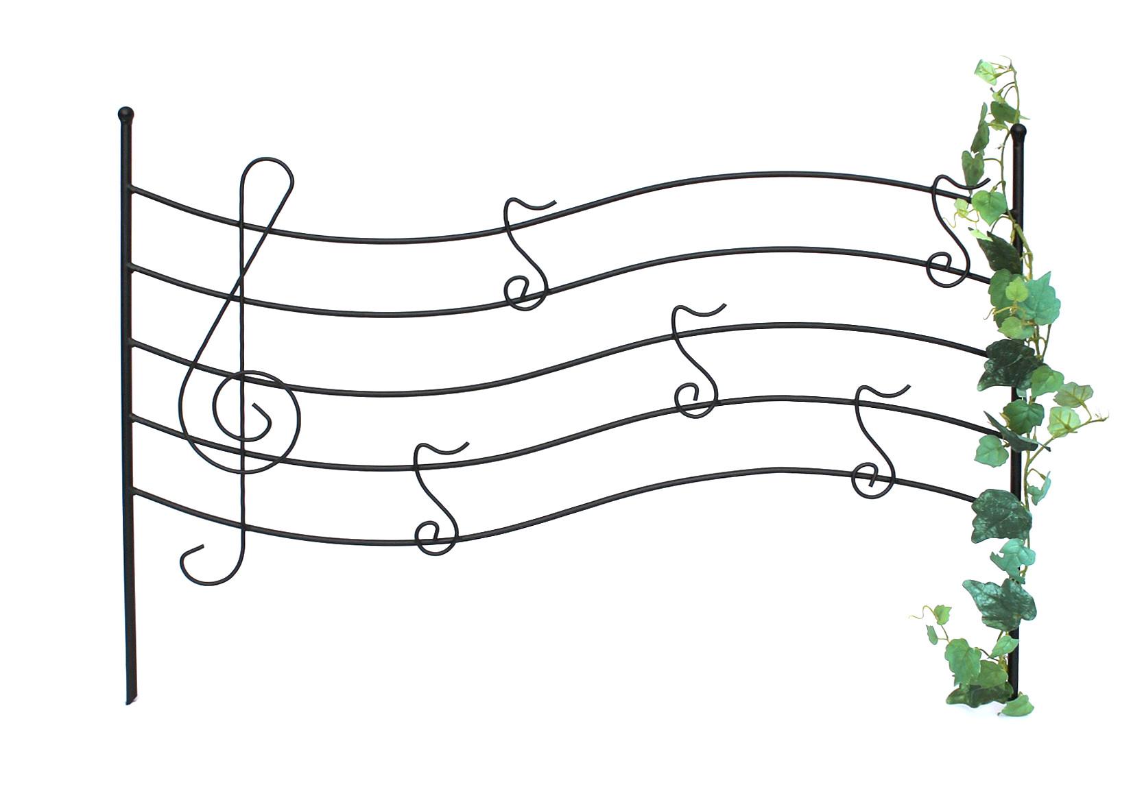 steckzaun melody rankhilfe rankgitter aus metall h-56cm b-80cm