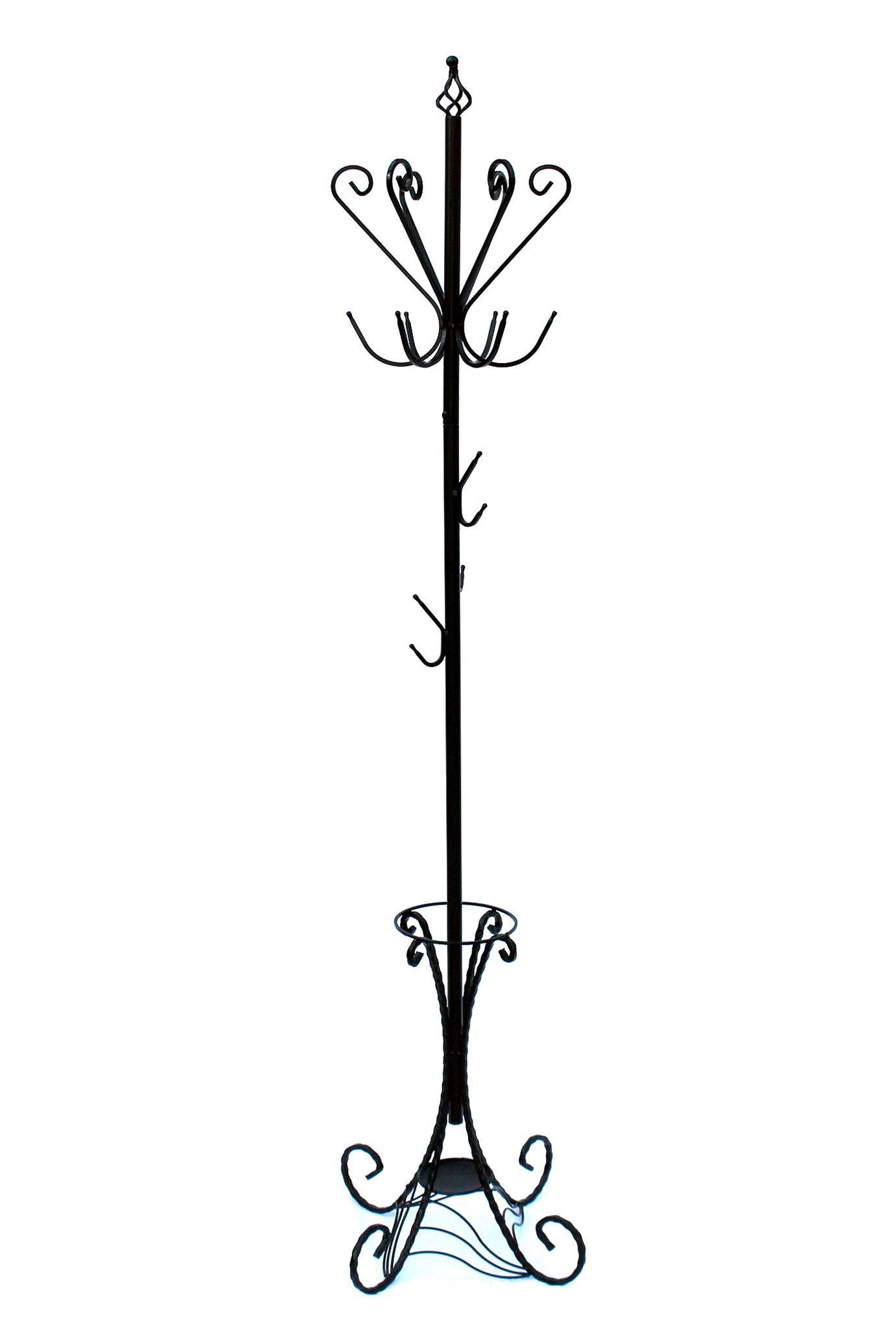 kleiderst nder schwarz metall 210 cm garderobe. Black Bedroom Furniture Sets. Home Design Ideas