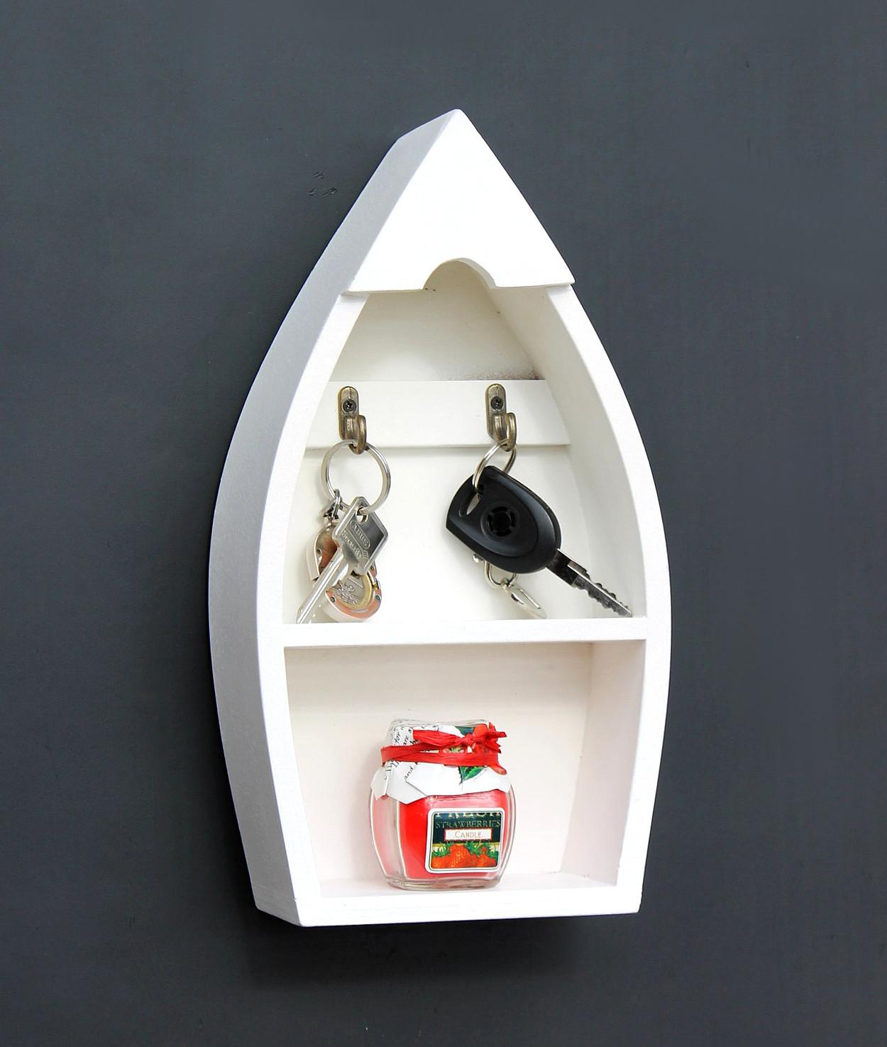 schl sselboard mit ablage boot 93541 s schl sselhaken wandregal 30 cm schl sselleiste. Black Bedroom Furniture Sets. Home Design Ideas