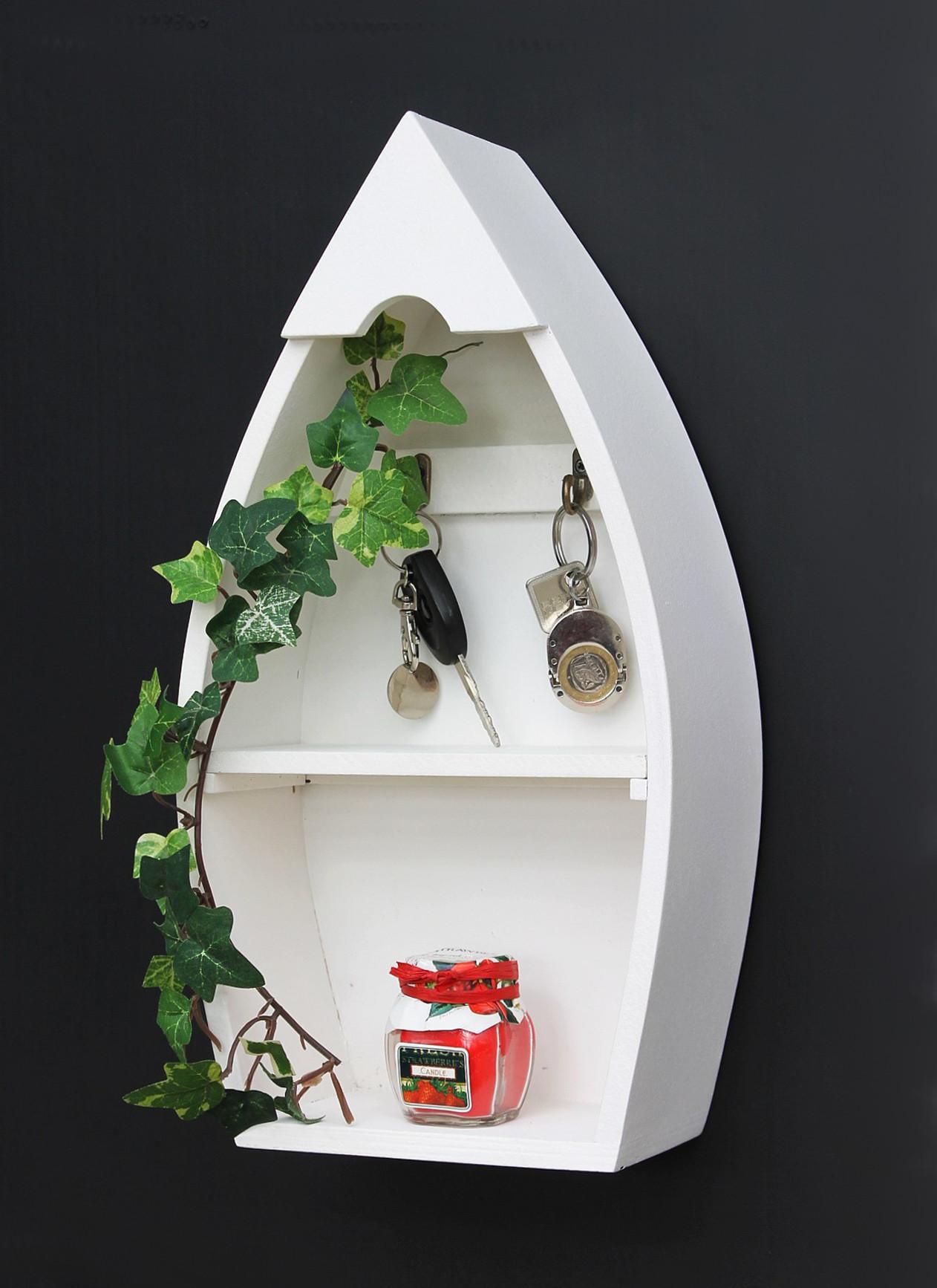 schl sselboard mit ablage boot 93542 xl schl sselhaken wandregal 38 cm schl sselleiste. Black Bedroom Furniture Sets. Home Design Ideas