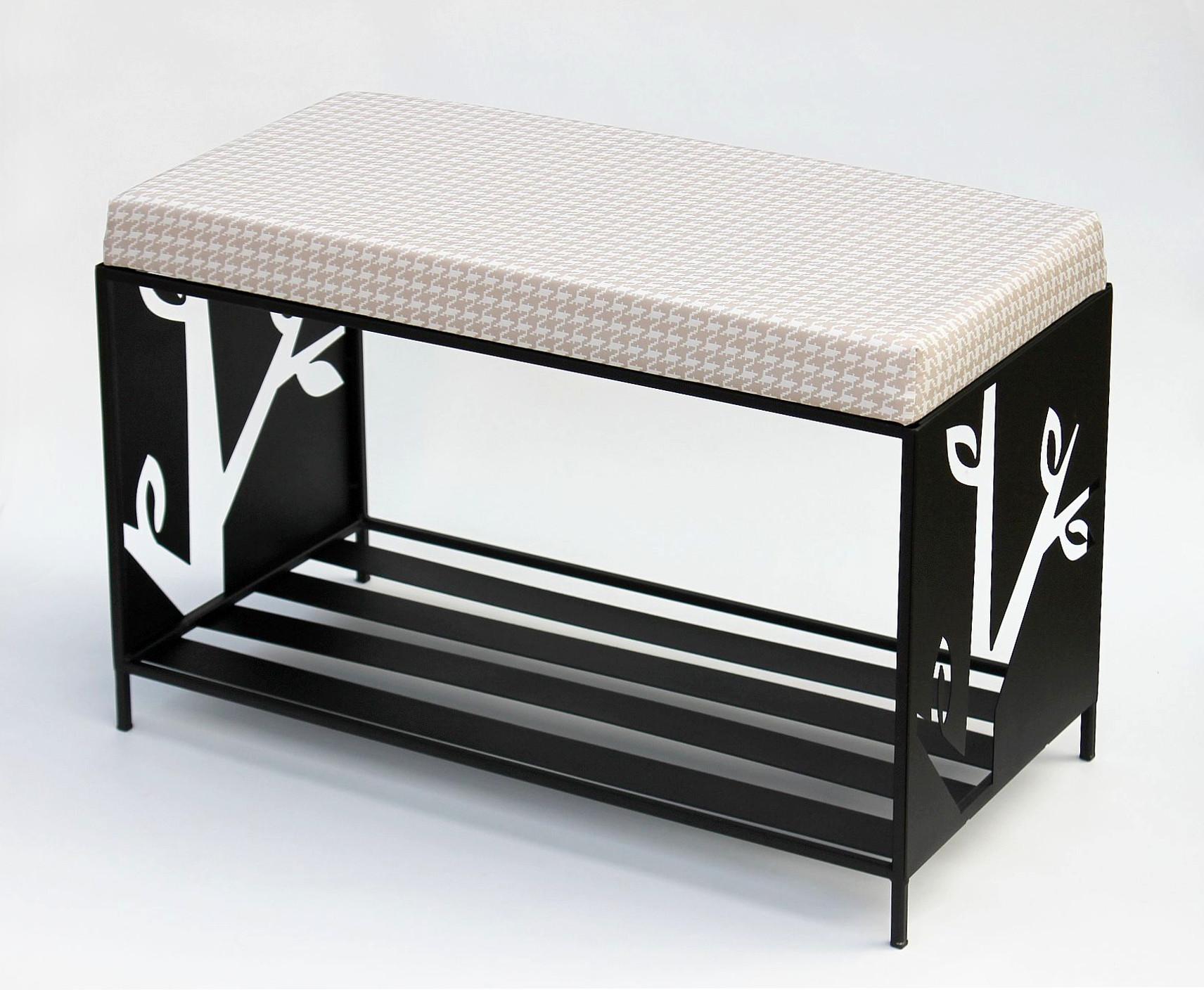 schuhregal mit sitzfl che metall schwarz 70 cm 10 15051 schuhregal schuhschrank dandibo. Black Bedroom Furniture Sets. Home Design Ideas